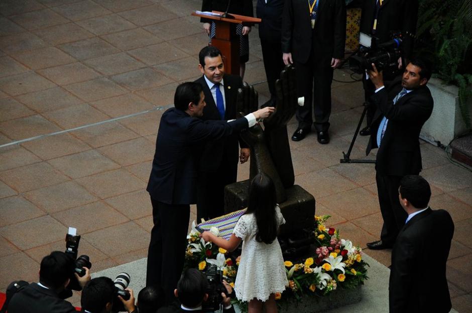 """Ma Ying-jeou, fue nombrado hoy """"Embajador de la paz de Guatemala"""". (Foto: Alejando Balán/Soy502)"""