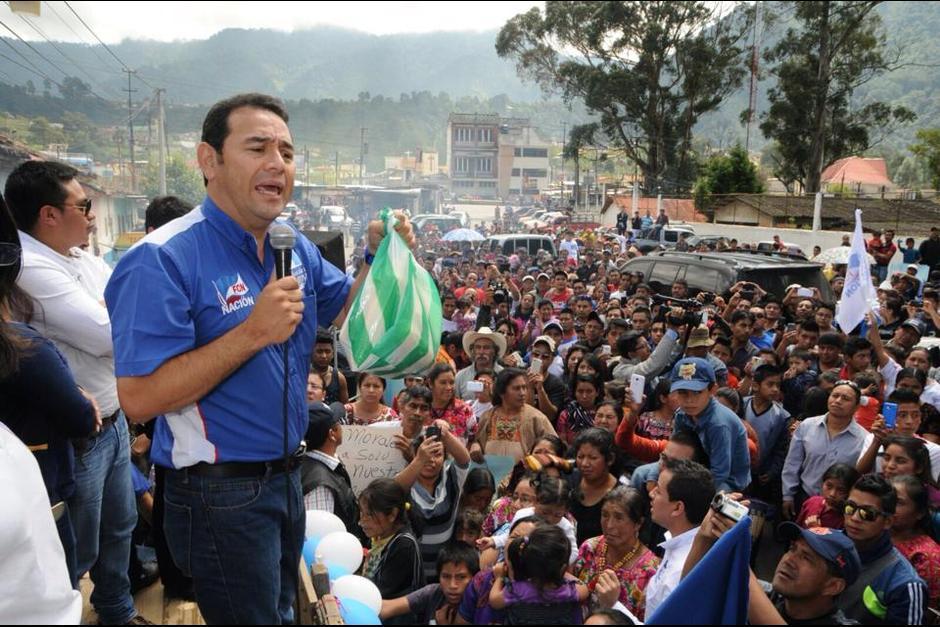 Jimmy Morales en uno de sus mitines de campaña antes de la segunda vuelta. (Foto: Archivo/Soy502)