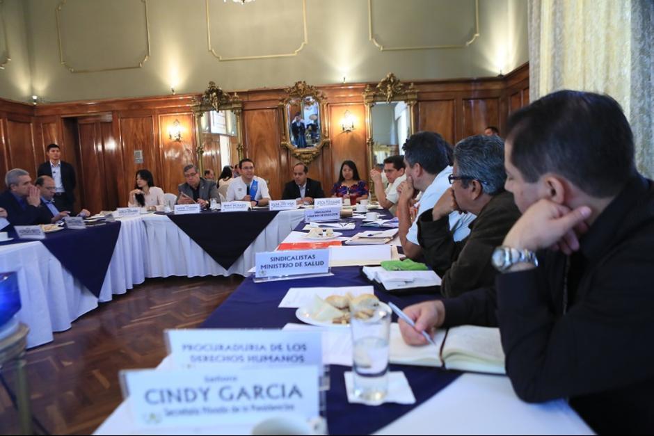 En la reunión estuvieron presentes Morales, Cabrera y los ministros involucrados. (Foto: AGN)