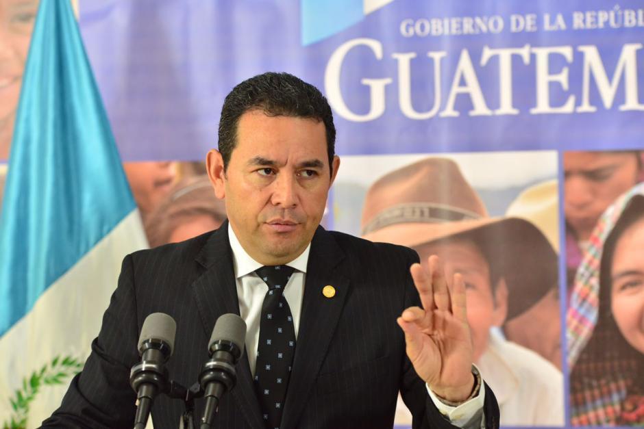 Jimmy Morales dijo que la tragedia sucedida en Hogar Seguro no fue un crimen de Estado. (Foto: Jesús Alfonso/Soy502)