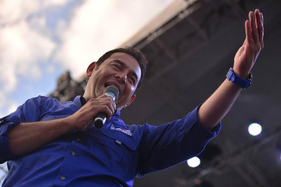 Jimmy Morales realizó un discurso de 10 minutos apróximadamente. (Foto:(Foto: Wilder López/Soy502)