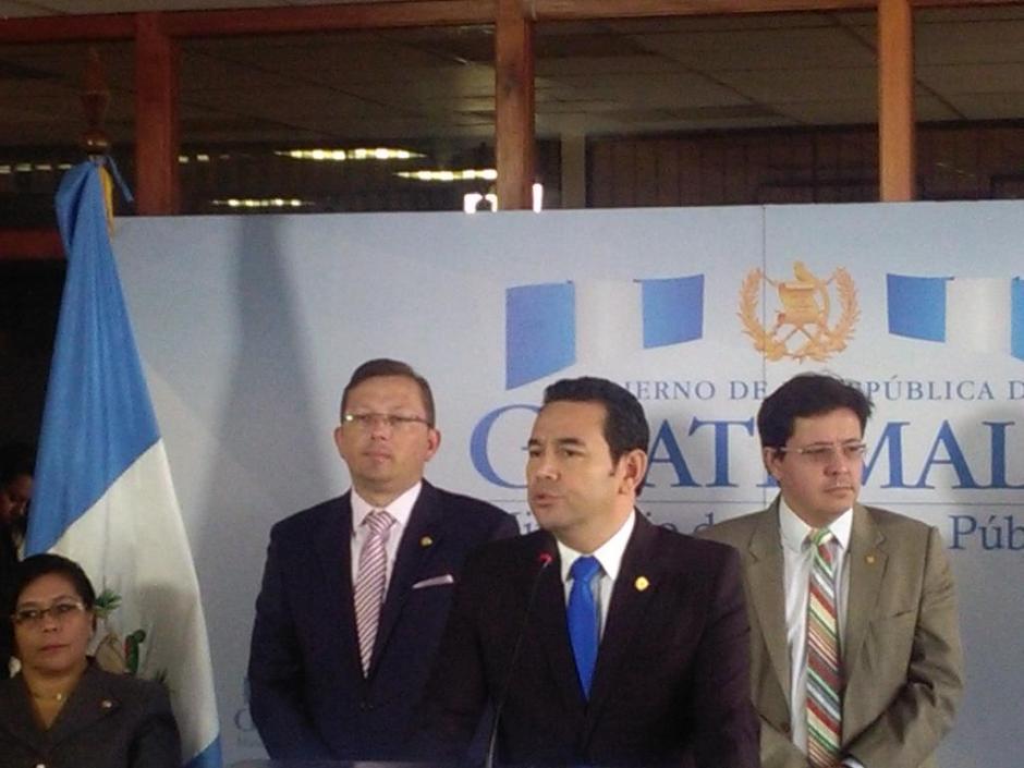 El presidente Jimmy Morales informó que no se planea incrementar el IVA. (Foto: @GuatemalaGob)