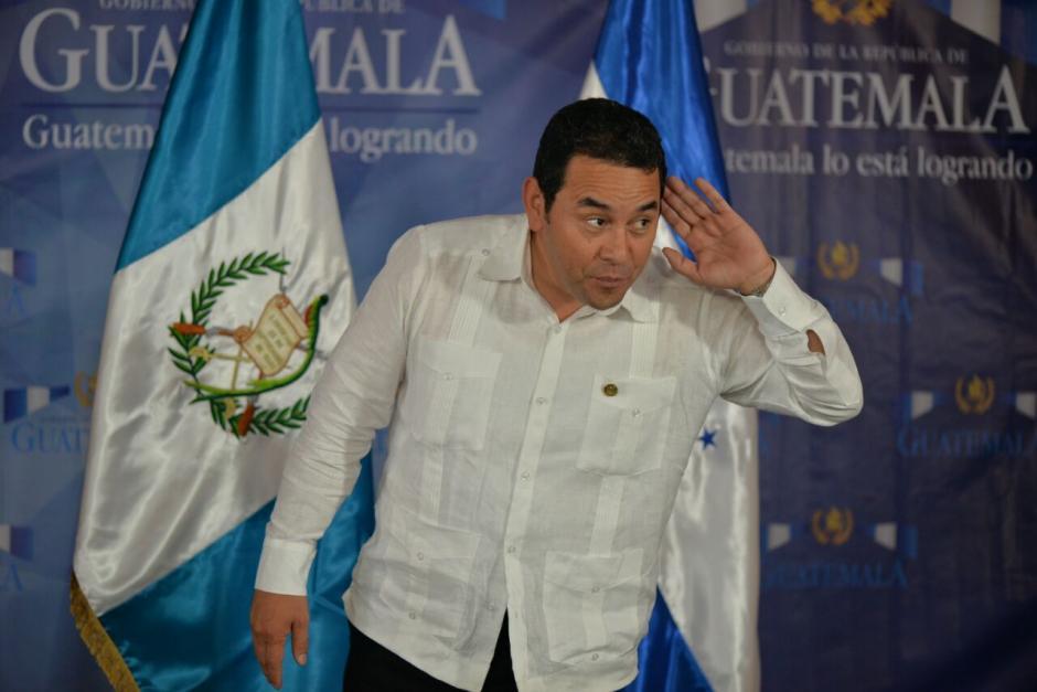 La próxima semana, el presidente Jimmy Morales, anunciará los cambios en las gobernaciones departamentales. (Foto: Wilder López/Soy502)