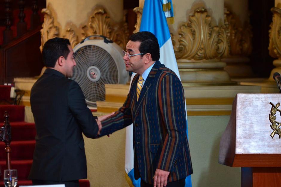 """El mandatario participó en el lanzamiento del programa """"Nación Digital"""". (Foto: Jesús Alfonso/Soy502)"""