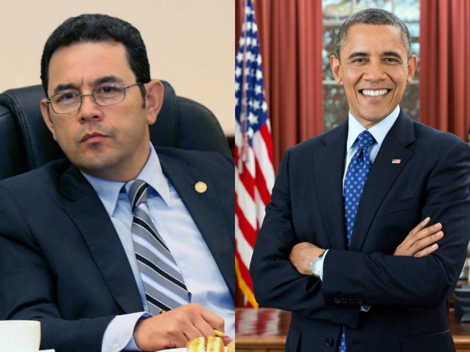 El Presidente comparó que le están saliendo canas como al presidente de EE.UU. (Foto: Soy502)