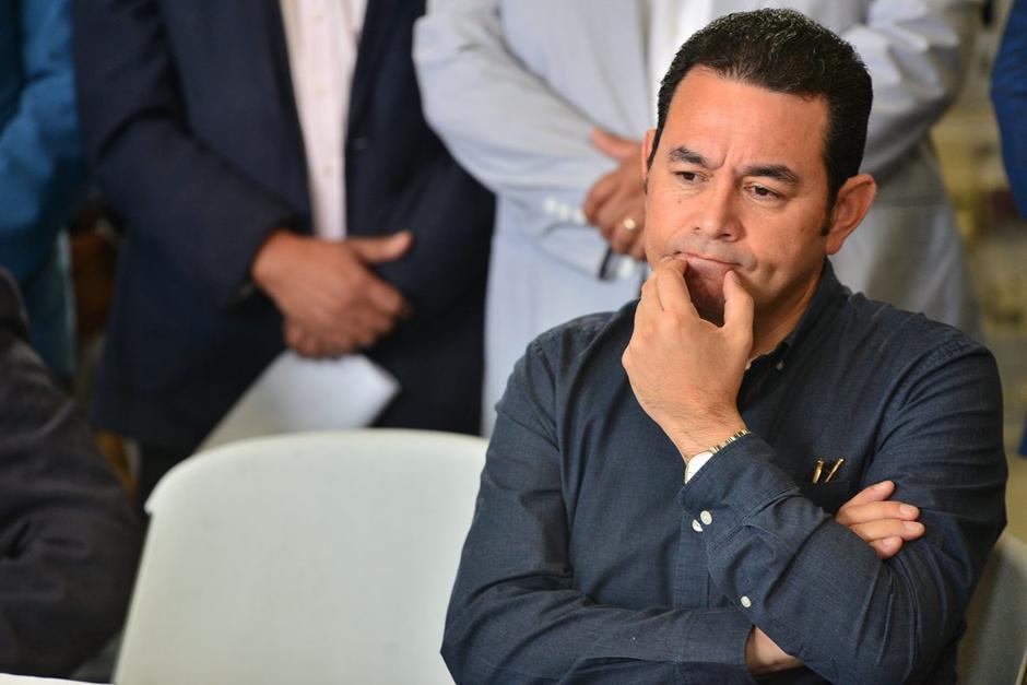 Jimmy Morales se molestó luego que no fuera ratificado el estado de calamidad. (Foto: Archivo/Soy502)