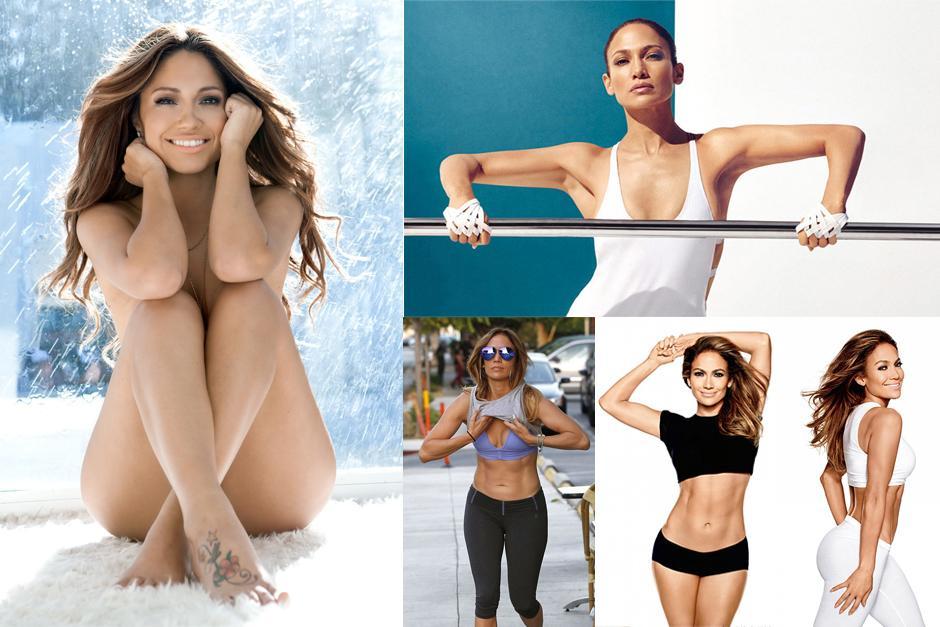 A sus 45 años, Jennifer López, luce bella y espectacular.