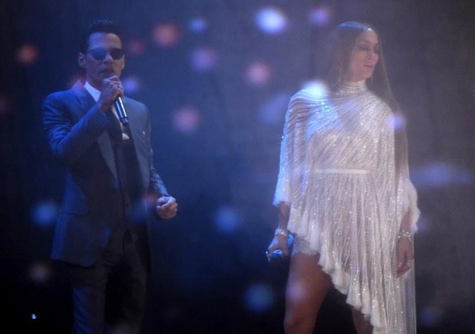 JLo y Marc Anthony se unieron en un inolvidable dueto en los Latin Grammy. (Foto: AFP)