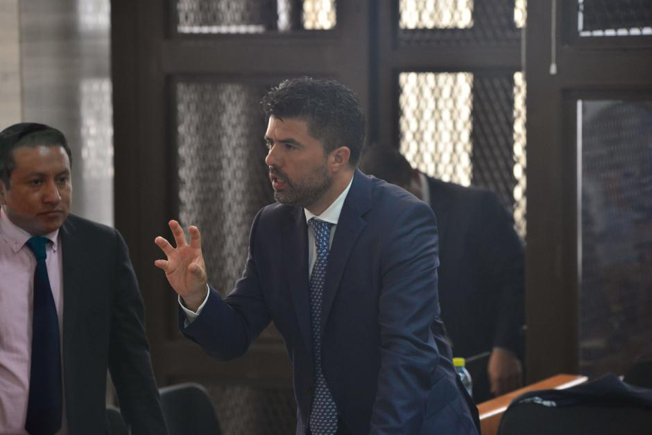El sindicado Jonathan Chévez durante la audiencia de primera declaración por el caso TCQ.  (Foto: Jesús Alfonso/Soy502)