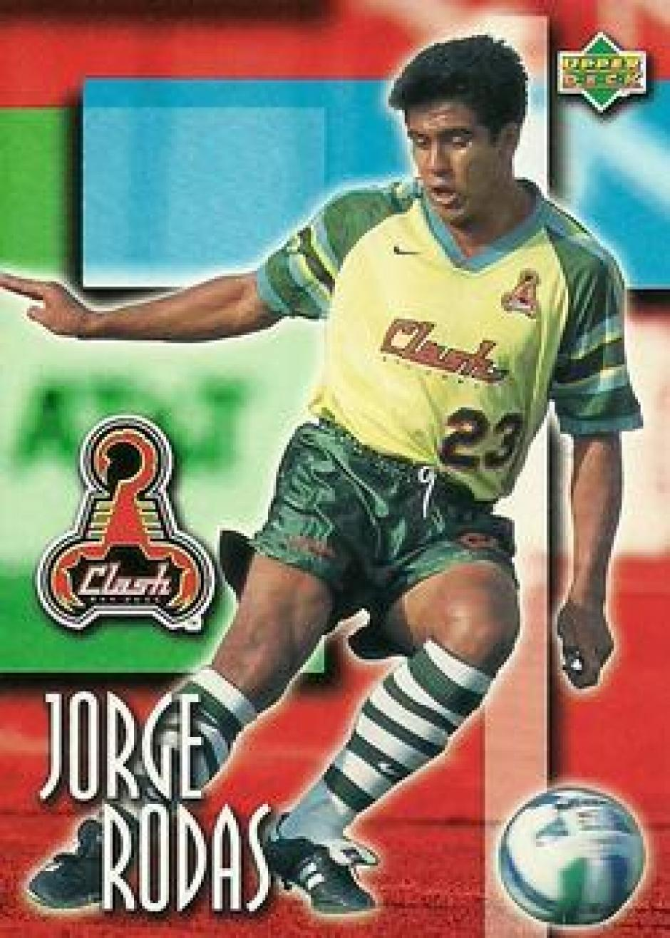 Postal del recuerdo. Las tarjetas con la imagen de Jorge Rodas con el San José Clash. (Foto: Google)