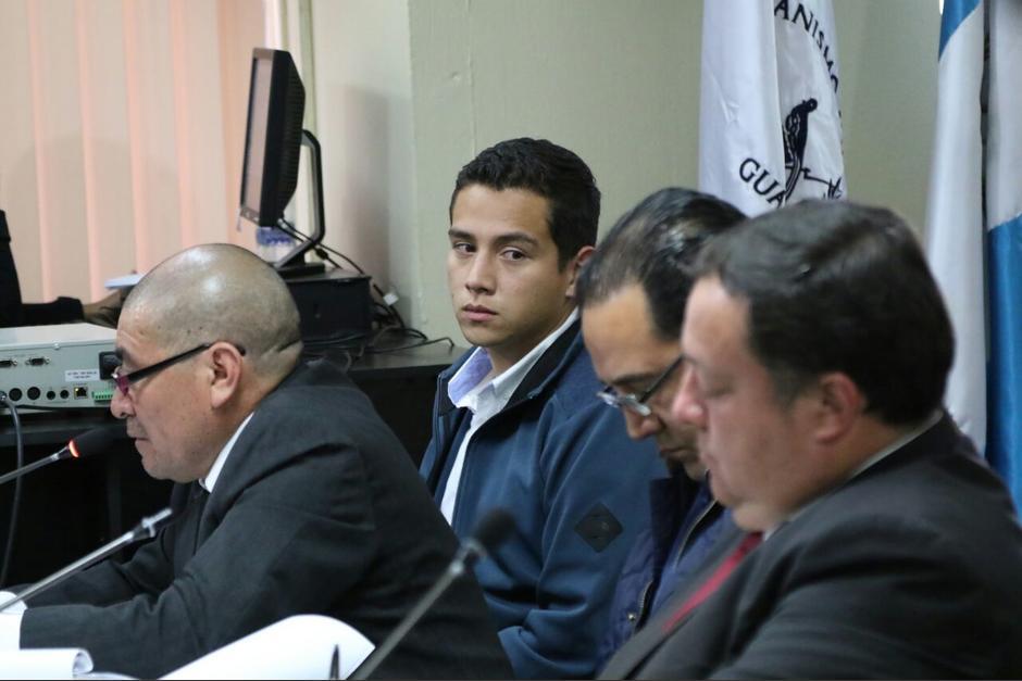 José Manuel Morales Marroquín durante la audiencia. (Foto: Alejandro Balan/Soy502)