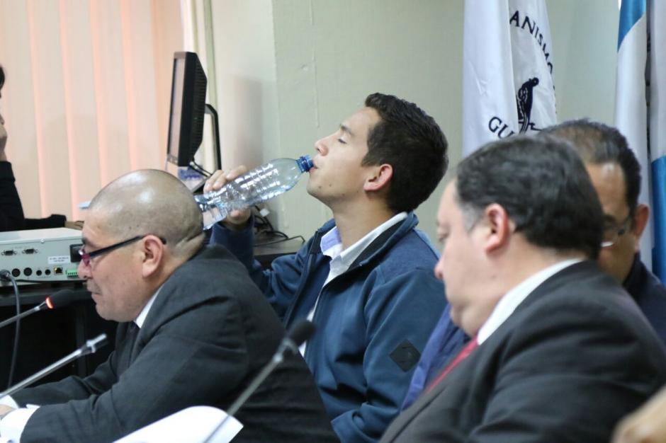 Posteriormente pidió la palabra, pero la jueza explicó que su momento había pasado. (Foto: Alejandro Balán/Soy502)