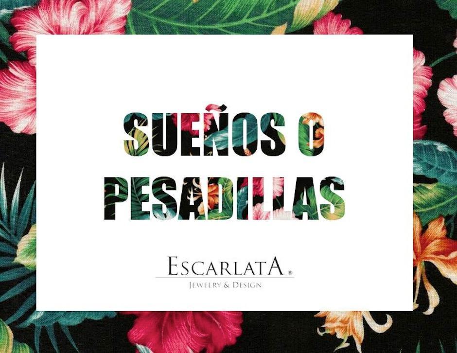 """""""Sueños o pesadillas"""" es la nueva colección de la firma guatemalteca de joyas Escarlarta. (Foto: Escarlata oficial)"""
