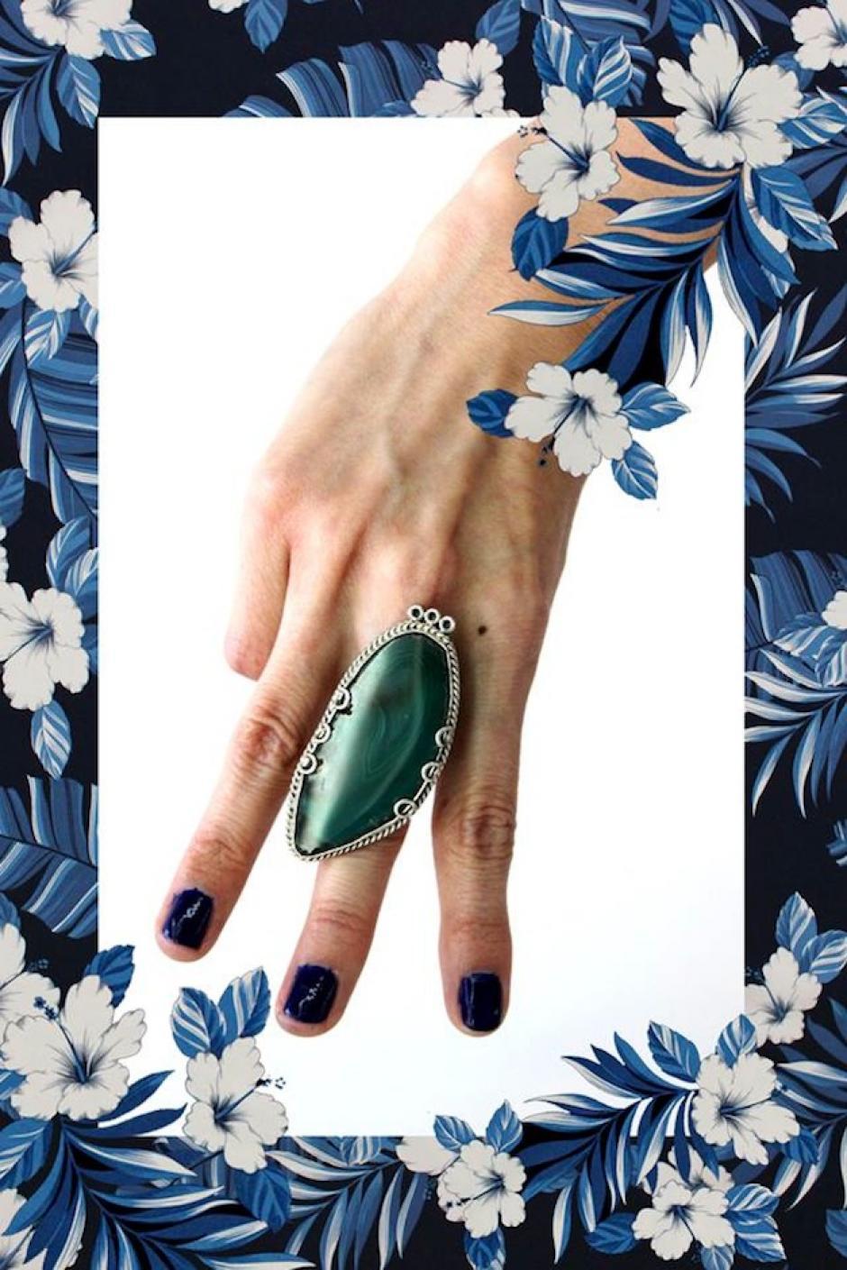 """""""La gran arboleda"""" se compone de ágata verde y plata. (Foto: Escarlata oficial)"""