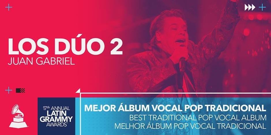 A unos meses de su partida de este mundo, Juan Gabriel recibió el premio a Mejor Álbum Vocal Pop Tradicional. (Foto: Latin Grammy)