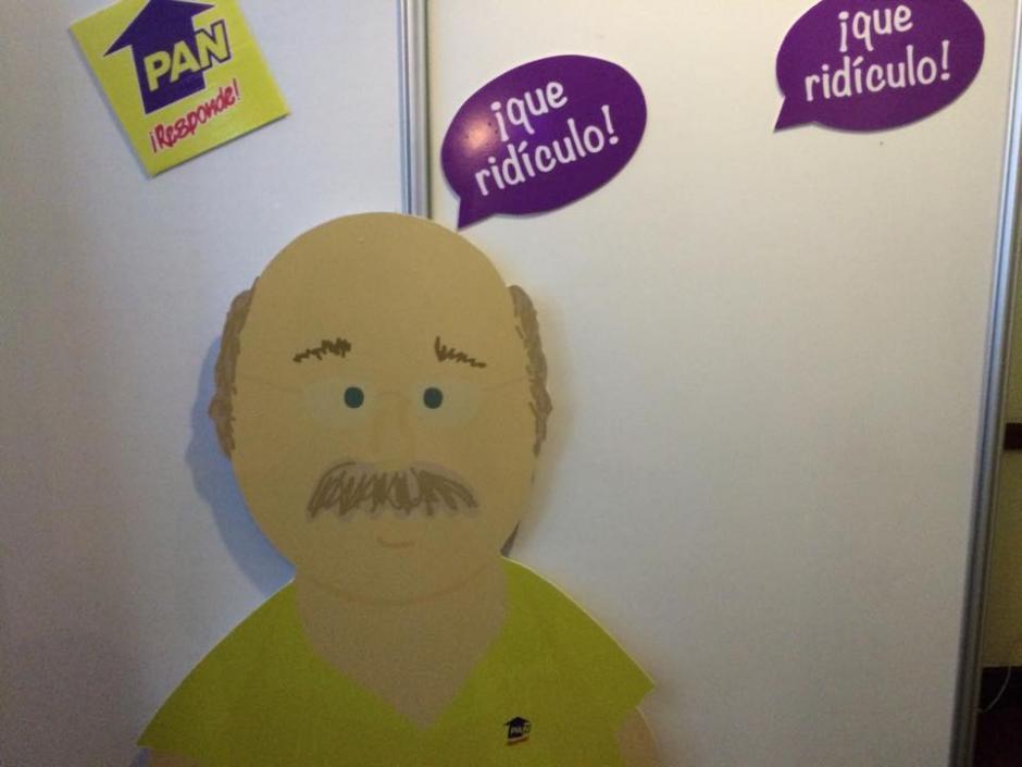 Al estilo de la serie de televisión South Park, Juan Gutiérrez realizó su propia caricatura. (Foto: Wilder López/Soy502)