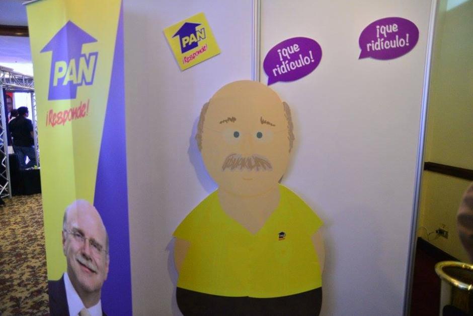 La campaña realizó una caricatura del candidato presidencial. (Foto: Wilder López/Soy502)