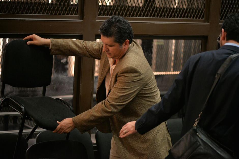Juan Luis Ortíz, financista y de la constructora Inesco también se presentó a Tribunales. (Foto: Wilder López/Soy502)