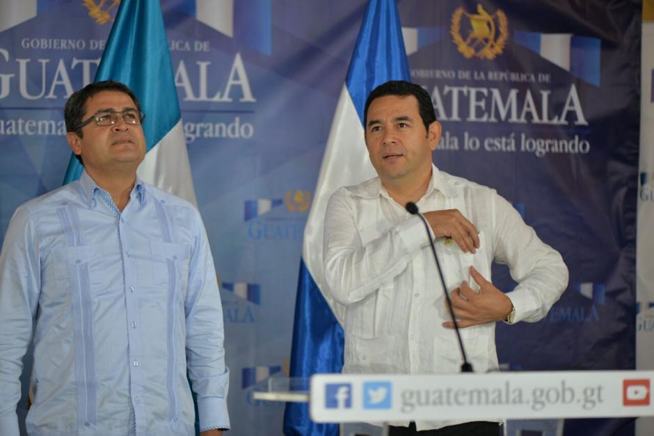 Los presidentes de Honduras y Guatemala se reunieron en Escuintla. (Foto: Wilder López/Soy502)