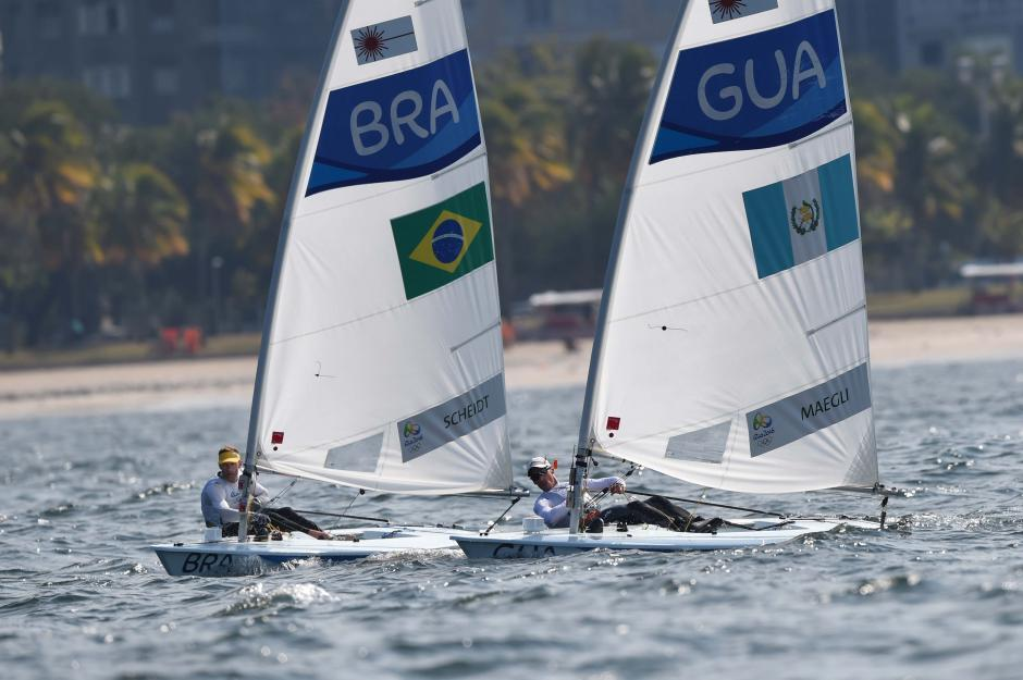 Maegli fue el segundo mejor velerista en la clase láser estándar de América, detrás de Brasil. (Foto: Sergio Muñoz/Enviado de ACD)