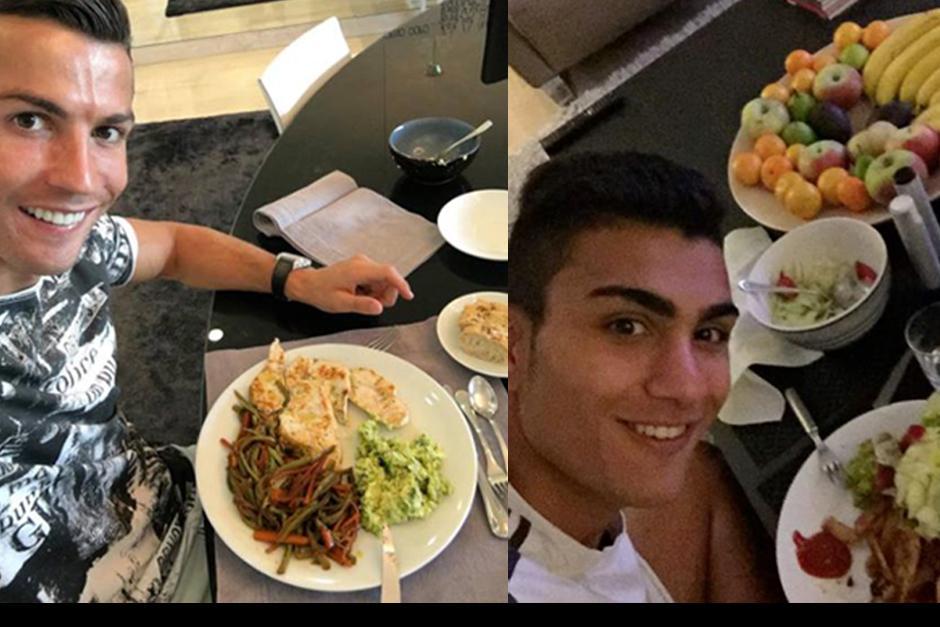Si Cristiano come, Shanta come... y así sucesivamente. (Instagram)