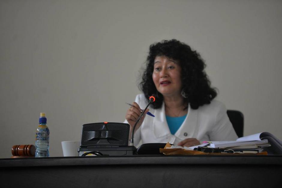 La juez Yassmín Barrios Aguilar es quien lleva el juicio. (Foto: Wilder López/Soy502)