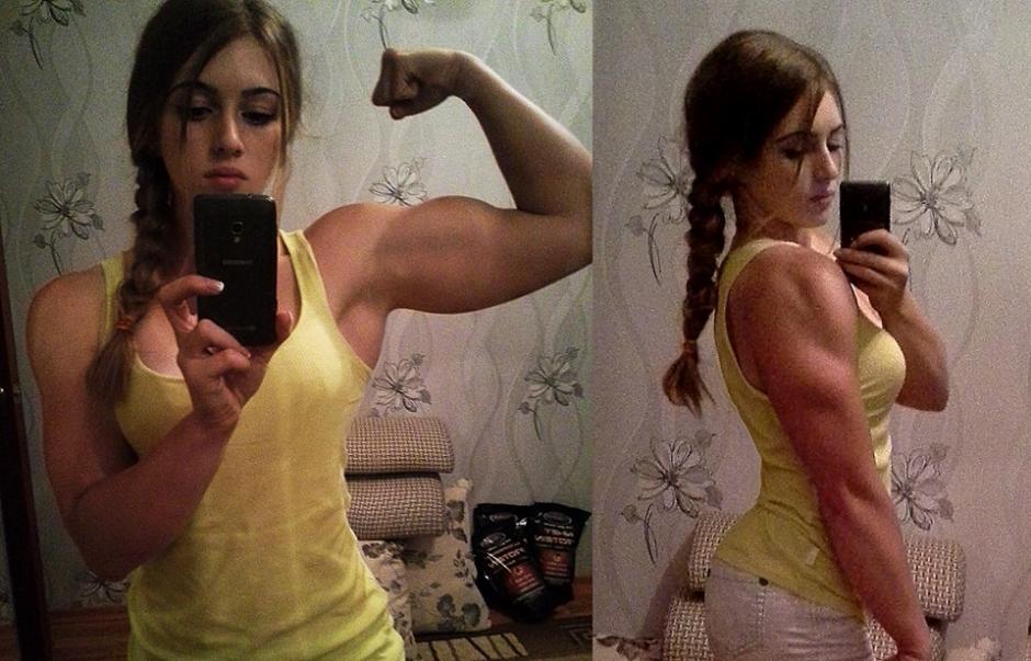 A los 15 años inició su gusto por el fisiculturismo. (Foto: Facebook/Julia Vins)