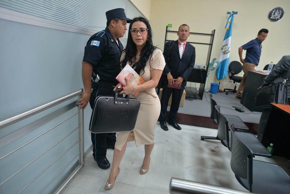 La exdiputada Julia Maldonado dio gracias a Dios por quedar en libertad. (Foto: Wilder López/Soy502)