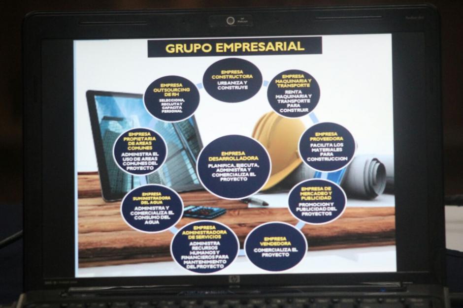 La defensa técnica incluyó varios diagramas. (Foto: Alejandro Balán/Soy502)