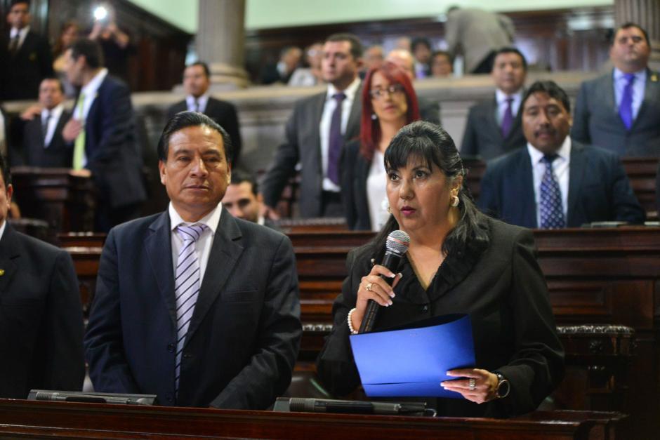 La nueva directora del Instituto de la Defensa Pública Penal habló ante el pleno. (Foto: Jesús Alfonso/Soy502)