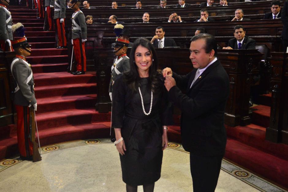 La magistrada suplente de la CC María Cristina Fernández fue juramentada. (Foto: Jesús Alfonso/Soy502)