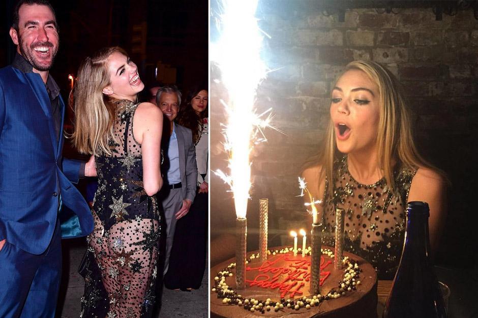 Kate Upton lució un traje transparente durante su cumpleaños 24. (Foto: as.com)