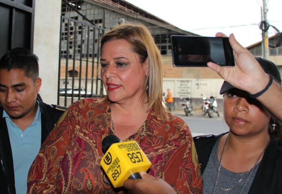 Anahí Keller Zabala a su llegada a Torre de Tribunales. (Foto: PNC)