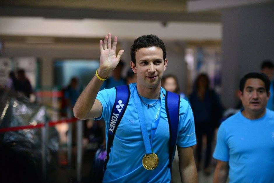 Kevin Cordón retornó a Guatemala luego de su buena participación en los Juegos Panamericanos de Toronto. (Foto: Wilder López/Soy502)