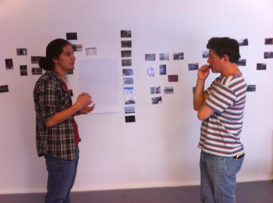 Kevin realiza una exposición donde muestra el proceso de su trabajo hasta la fase final. (Foto: Kevin Frank)