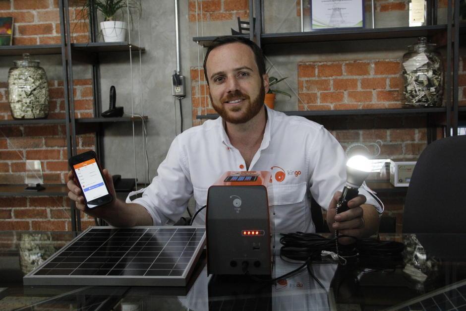 Juan Fermín Rodríguez de Kingo, que trabaja con energía sostenible participará en GES2016. (Foto: Fredy Hernández/Soy502)