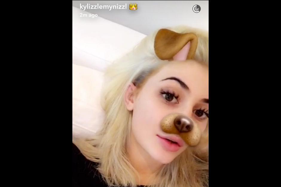 La empresaria aun no ha subido fotos a su Instagram del nuevo look. (Foto: Snapchat)