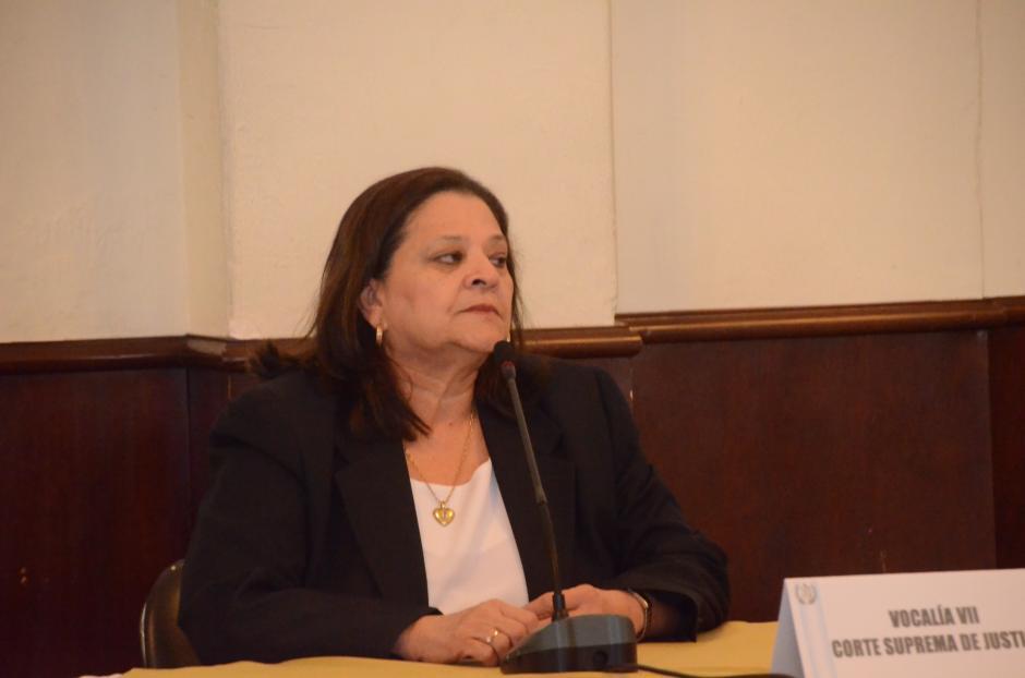 La secretaria de Blanca Stalling confirmó la reunión entre la magistrada y el juez. (Foto: cortesía José Castro)