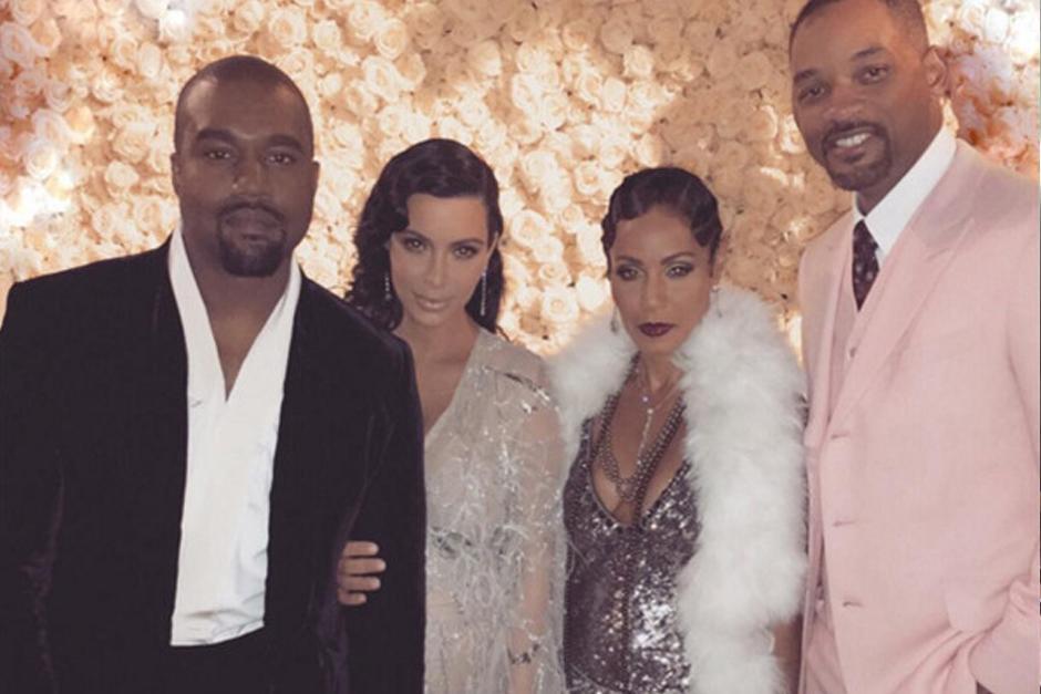 Kanye West, Kim Kardashian, Jada Pinkett Smith y Will Smith