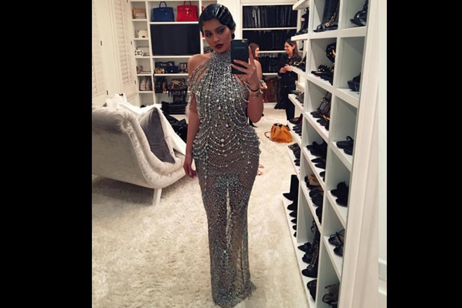 Kylie Jenner previo a la fiesta.