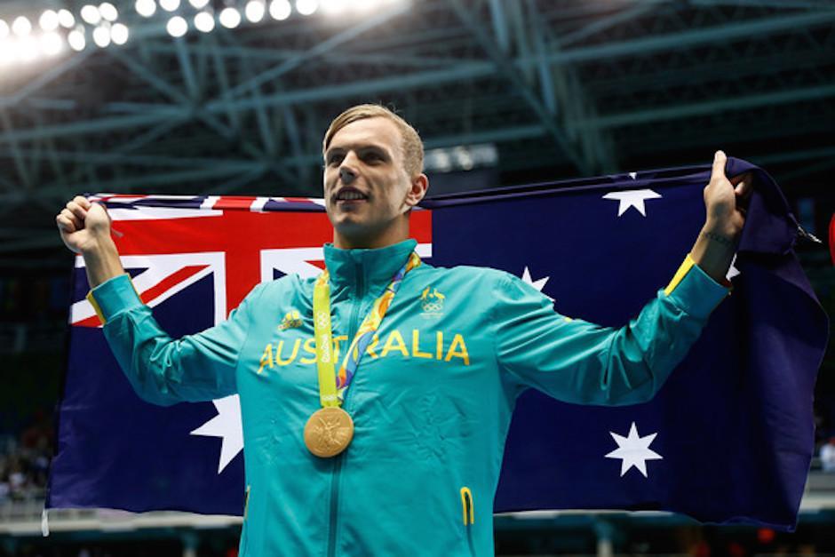 Kile Chalmers luce la medalla de oro obtenida. En Río 2016 ha obtenido dos preseas más de bronce. (Foto: zimbio.com)