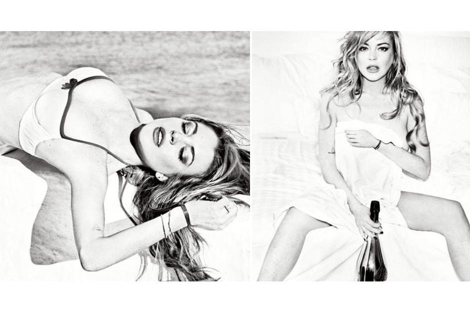 La actriz pelirroja posó al estilo de Marilyn Monroe.