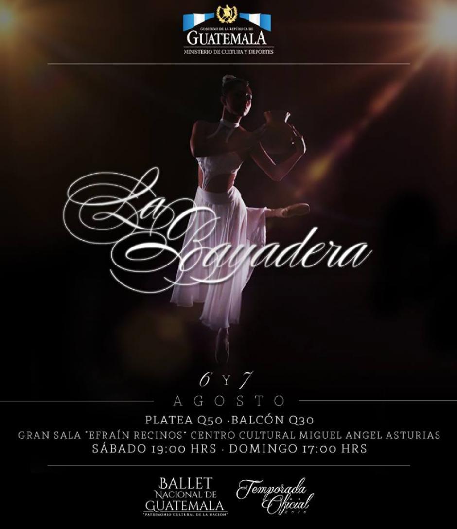 La Bayadera es una de las presentaciones del Ballet. (Foto: Ballet Guatemala)
