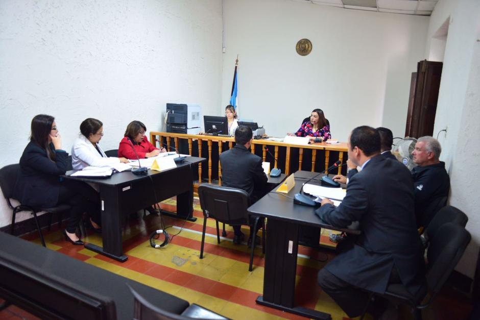La audiencia se realiza en un juzgado octavo de Paz Penal. (Foto: Jesús Alfonso/Soy502)