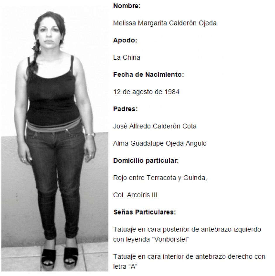 Las autoridades ya contaban con el perfil de Calderón Ojeda para localizarla en Baja California.