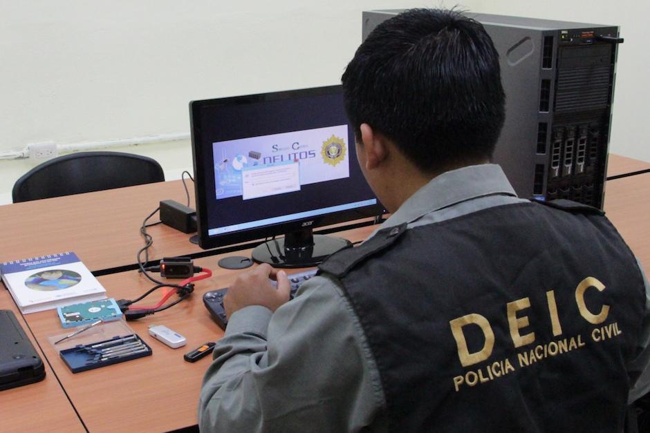 La unidad de cibercrimen de la PNC investiga casos como estos. (Foto: PNC)