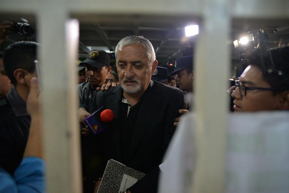 El expresidente Otto Pérez Molina acudió a la audiencia de etapa intermedia del caso La Línea. (Foto: Wilder López/Soy502)