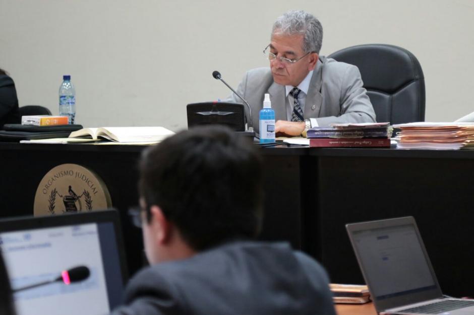 El juez Miguel Ángel Gálvez suspendió la audiencia de etapa intermedia del caso La Línea. (Foto: Alejandro Balán/Soy502)