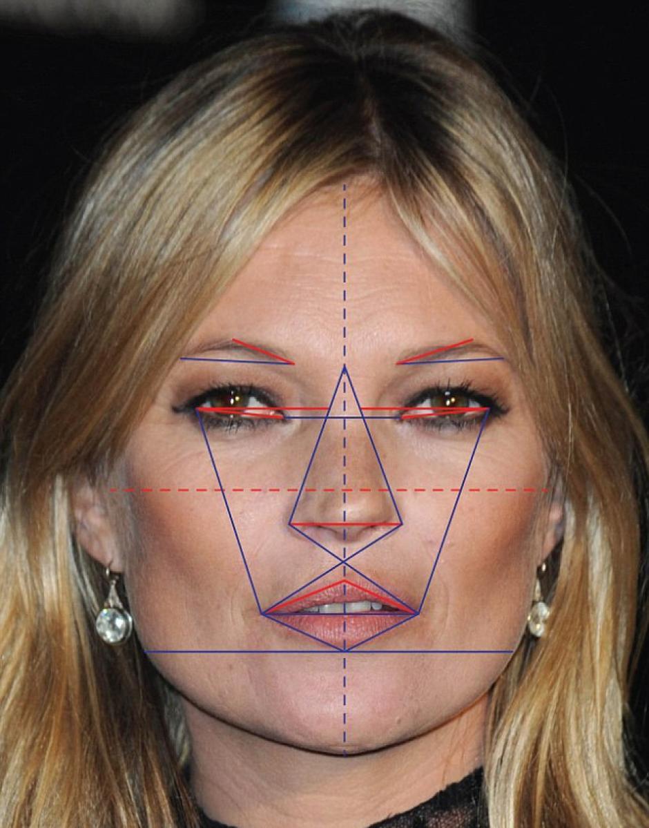 Kate Moss obtuvo un 91.39% de proporción áurea de la belleza. (Foto: rt.com)