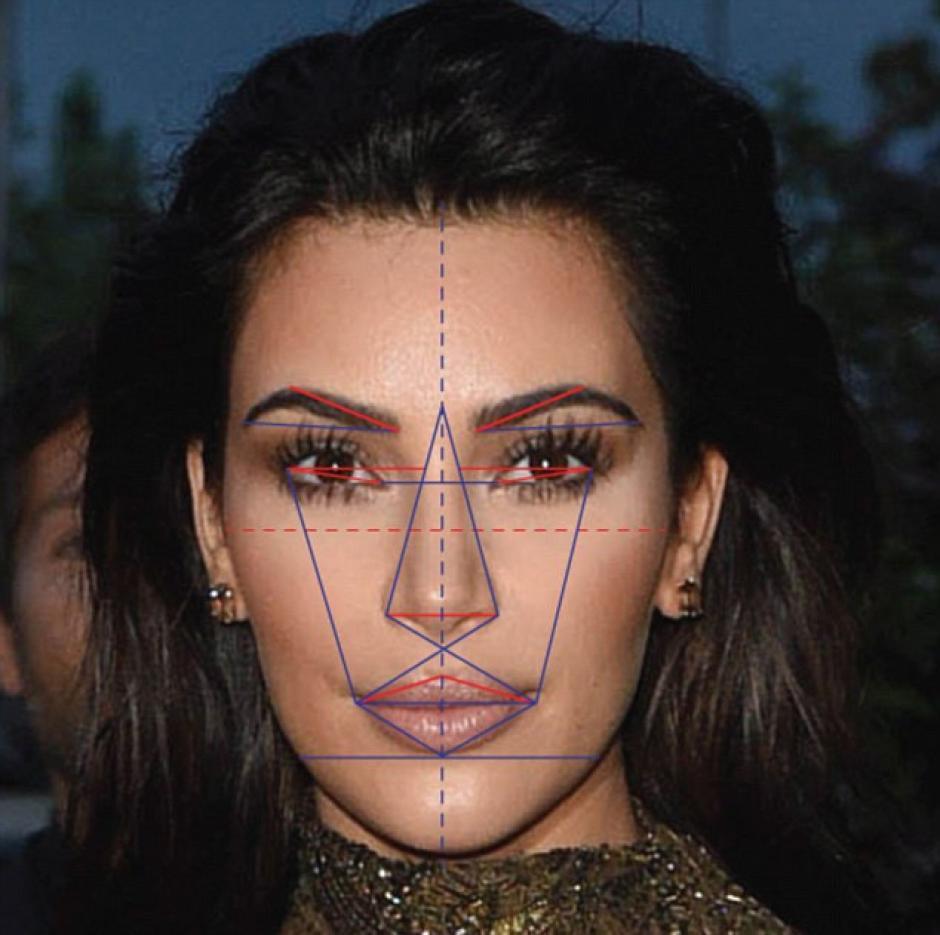 Kim obtuvo 91.39% de proporción áurea de la belleza. (Foto: rt.com)